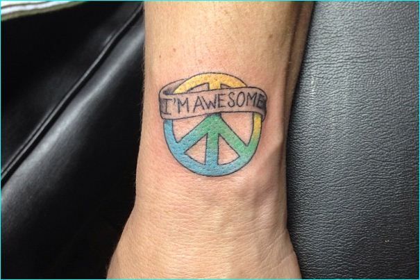 26 best images about cool peace sign tattoo meaning and