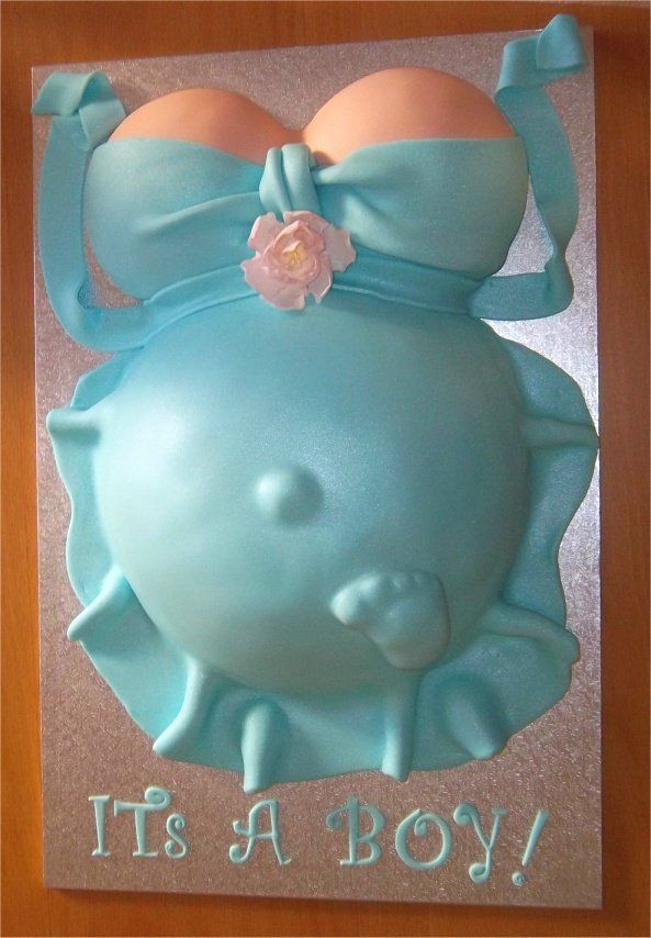 Pregnant Belly Cake inspiration baby boy baby shower.