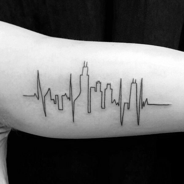 Chicago skyline tattoo