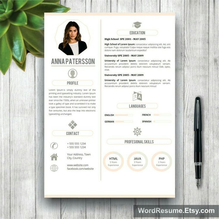 67 best Modern and Creative Resume Templates images on Pinterest - html resume templates