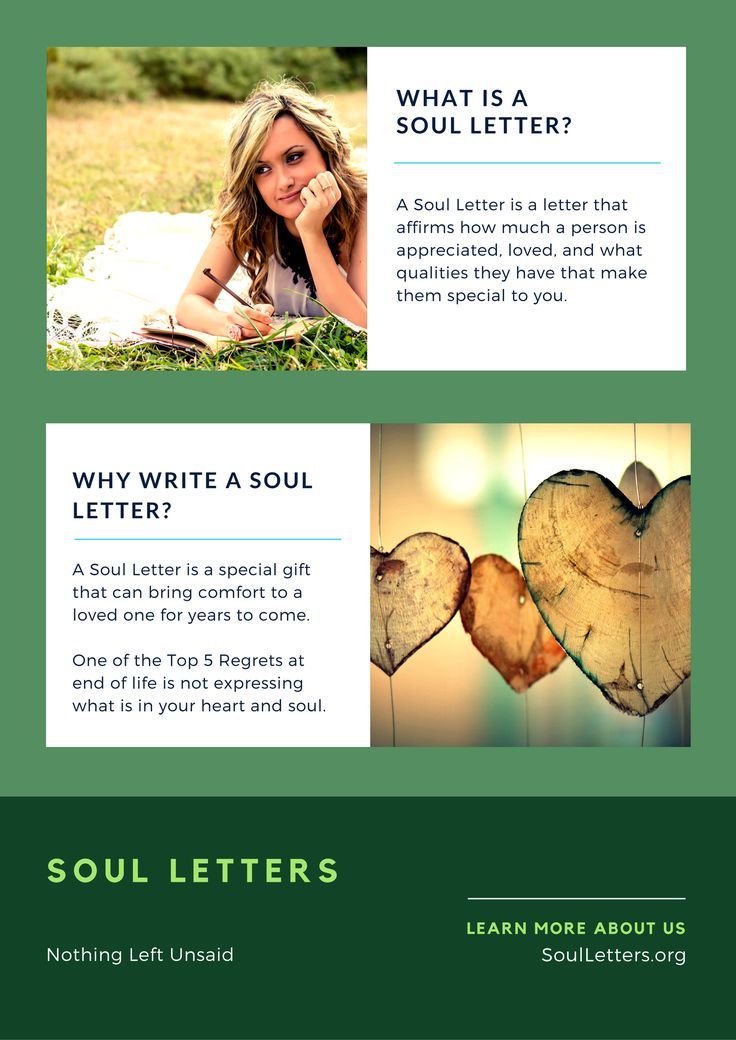 What is a Soul Letter?  Learn more about it!