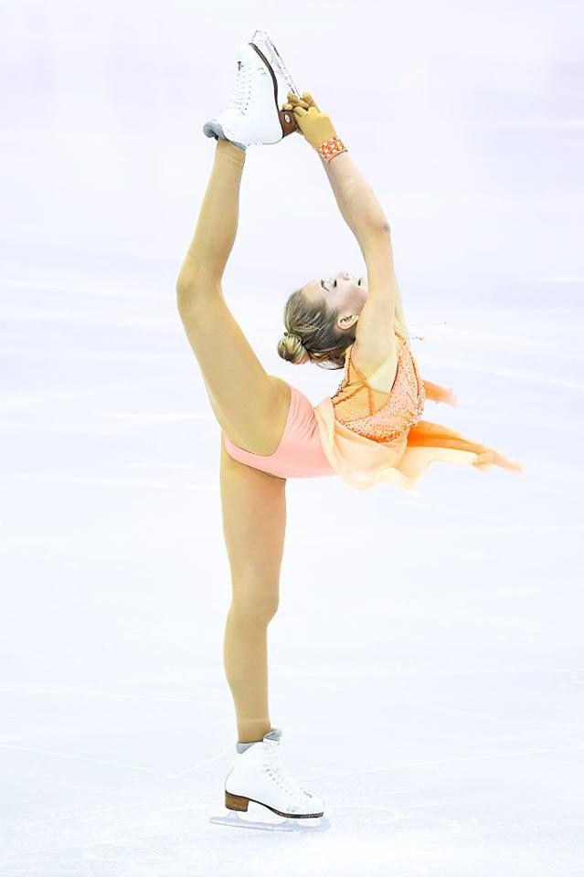 Elena RADIONOVA (RUS) 2nd in Short Program #GPFBarcelona — in Barcelona, Spain.