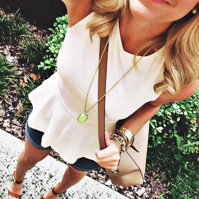 Such a cute way to dress up shorts!