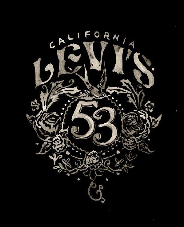 beautiful lettering design | levi's - bmd design