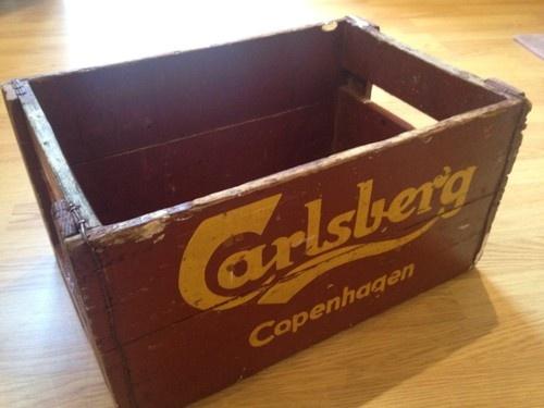 Carlsberg Copenhagen Vintage Wooden Crate Beer Box