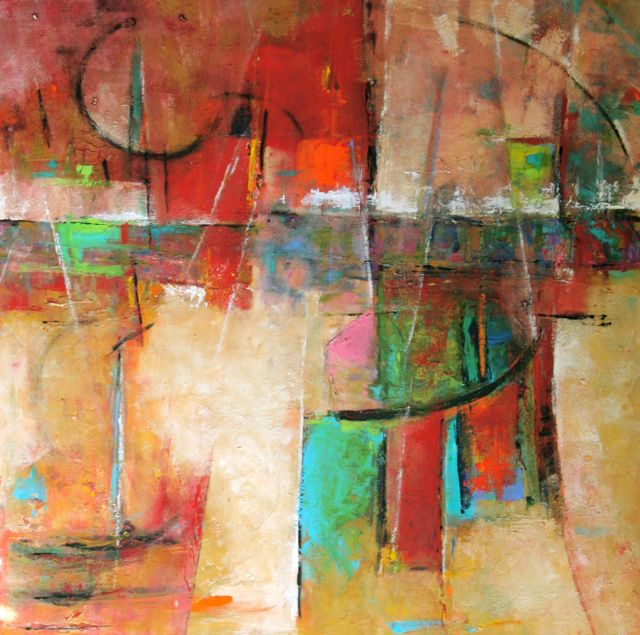 contemporary paintings abstract expression | Refraction, Modern Art, Contemporary Abstract Painting,Expressionism ...