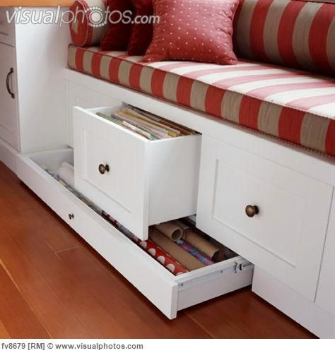 Window Seat with Storage Drawers Victoria British Columbia [fv8679] > Stock Photos | Royalty Free | Royalty Free Photos > Visualphotos.com