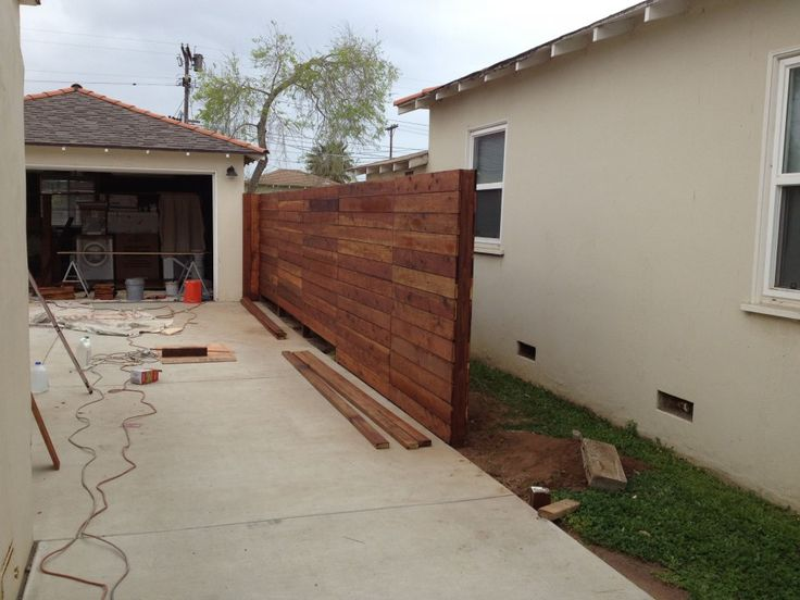 24 best fences images on pinterest brick fence front for Garage door repair in gilbert az