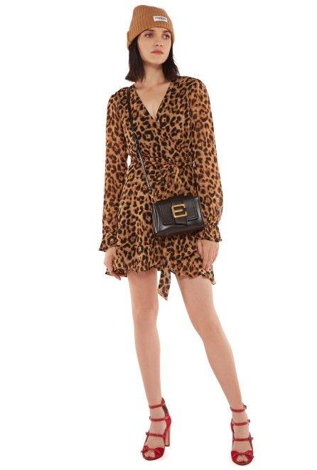 1b40c7433ab83 Leopard print mini wrap dress - Essentiel Antwerp UK | Dresses ...