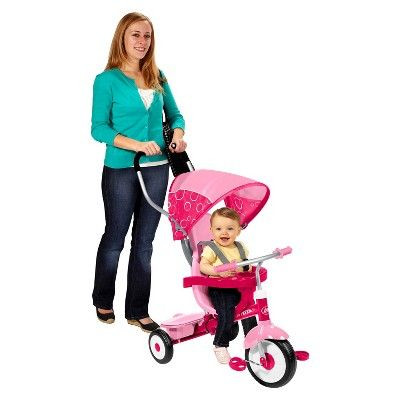 Radio Flyer 4-in-1 Stroll 'N Trike - Pink,