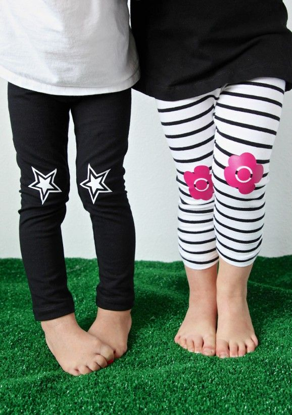 DIY Knee Patch Leggings made with Cricut Explore -- Paging Supermom. #DesignSpaceStar Round 2