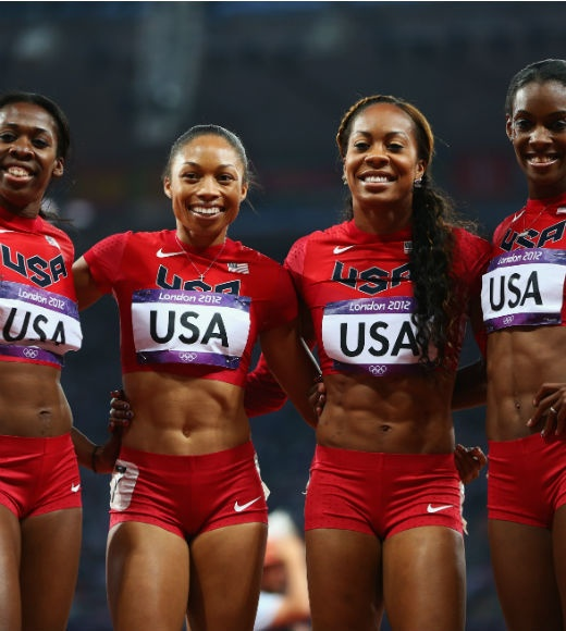 USA's Olympic Gold Medalists of the 4X400 meter relay!