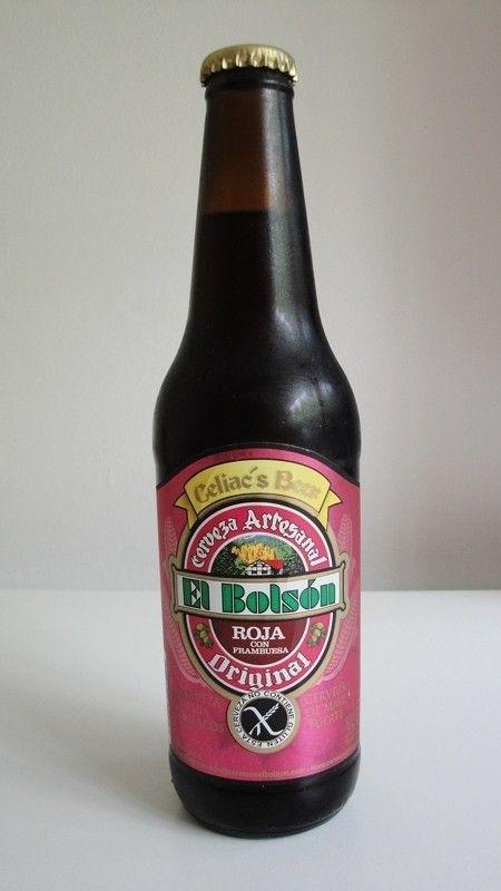 Cerveja El Bolson Frambuesa (Celiac's Beer), estilo Lambic - Fruit, produzida por Cervecería El Bolsón, Argentina. 5% ABV de álcool.