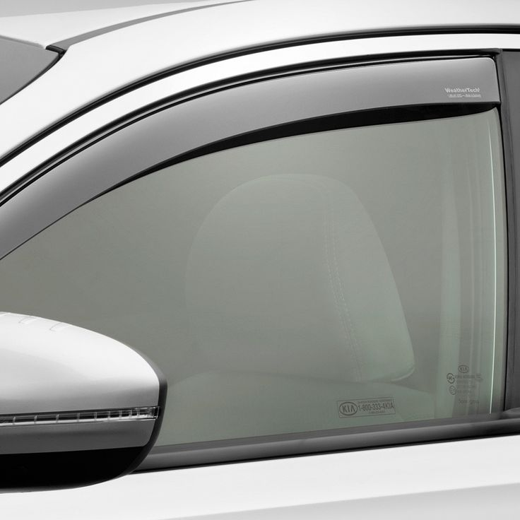 WeaterTech 70563 Series Light Smoke Front Side Window Deflectors - Side Window Deflectors WeatherTech(R) Side Window Deflectors, offer fresh air enjoyment with an original equipment look, installing within the window channel. They are crafted from the finest 3mm acrylic material available. Installation is quick and easy, with no exterior tape needed. WeatherTech(R) Side Window Deflectors are precision-machined to perfectly fit your vehicle's window channel. These low profile window…