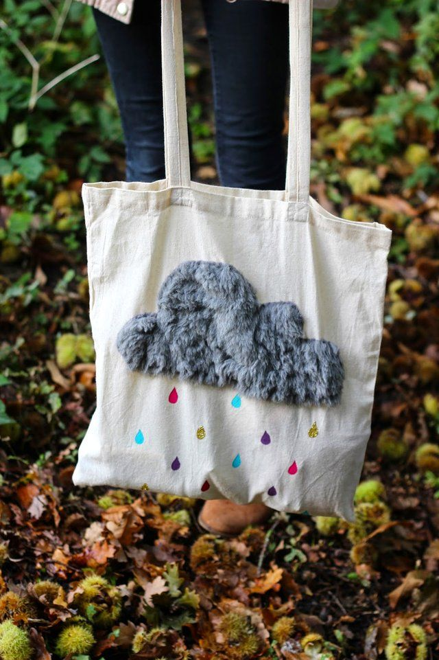 Sac do it yourself nuage // http://www.deco.fr/loisirs-creatifs/actualite-749331-tuto-fabriquer-sac-nuage.html