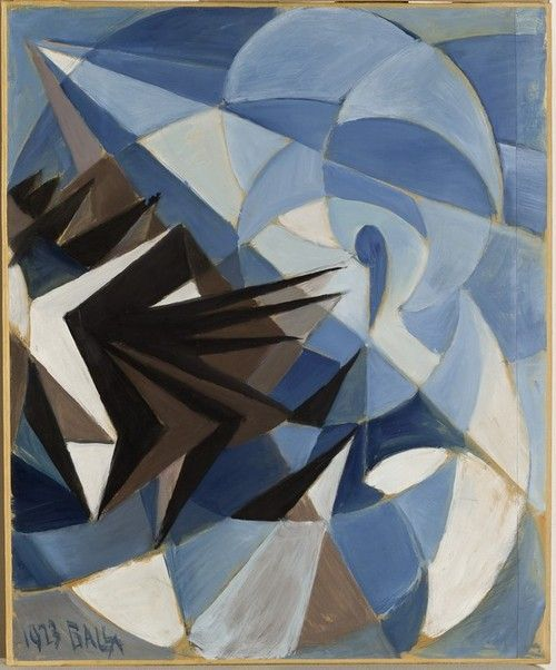 Giacomo Balla || Pessimism Versus Optimism || 1923 || Oil on Canvas