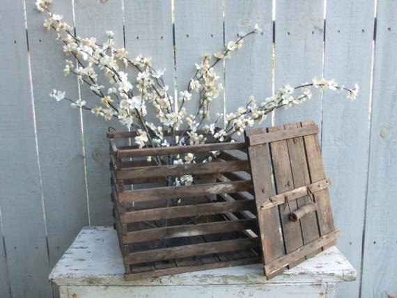 Antique Wooden Egg Crate on Etsy, $34.00