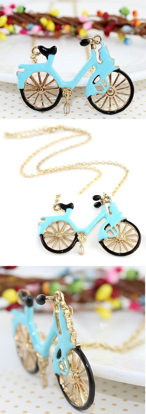 Cute Vintage Bicycle Necklace ♥
