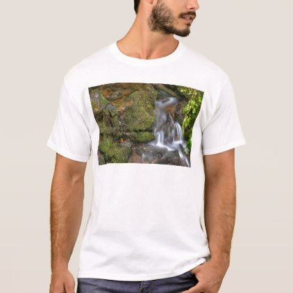 Green and Mossy Water Flow T-Shirt - summer gifts season diy template ideas