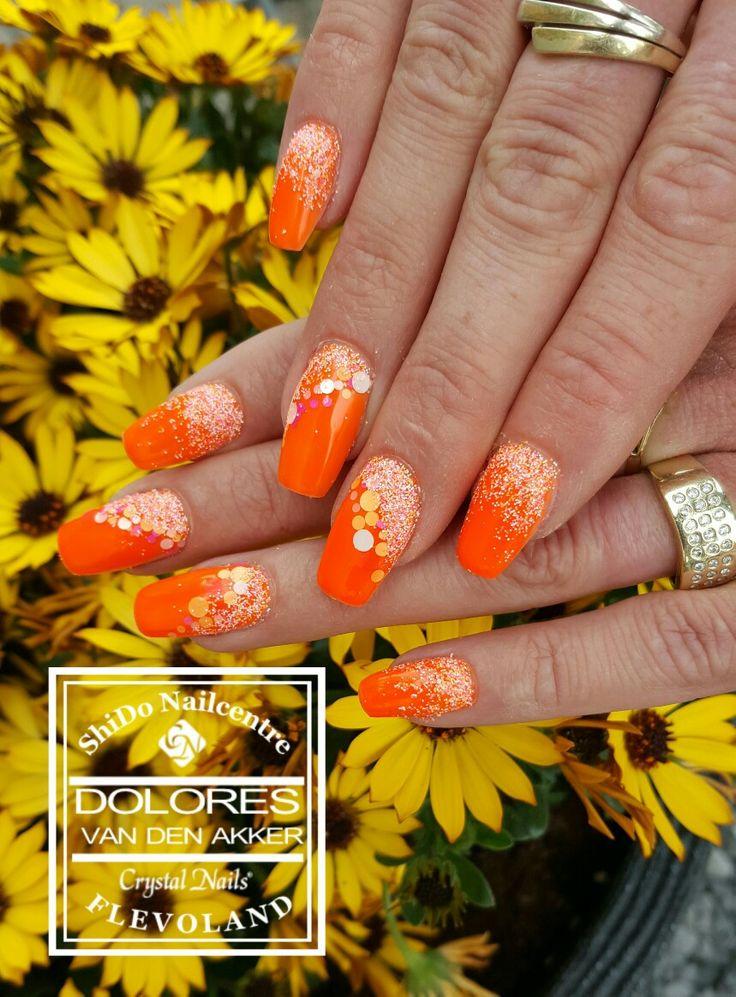 Orange 3 step Gelac #crystalnailsflevoland #nagelproducten #nagelgroothandel #nagelspullen #flevoland #lelystad #Nailart #nagelstyliste #Shidonailcentre