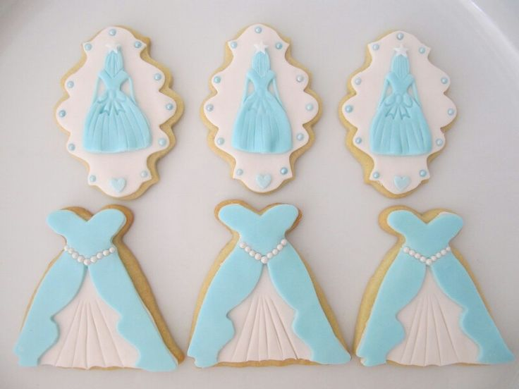 Blue princess cookies