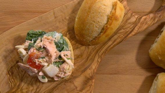 Salade de saumon pour sandwiche