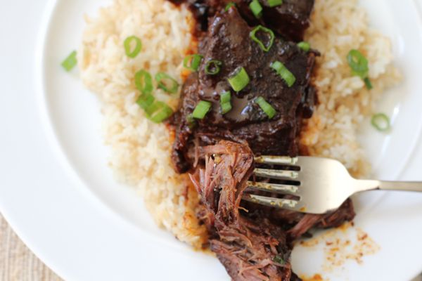 Slow Cooker Spicy Asian Beef Short Ribs | Hip Foodie Mom