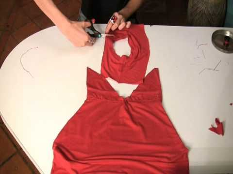 How to Convert a T-shirt into a sexy Dress