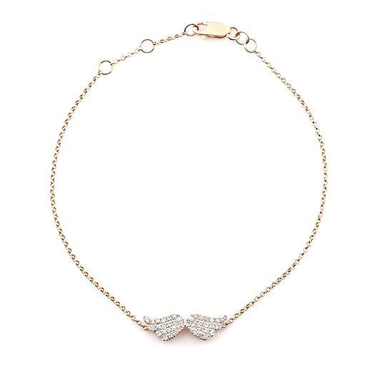 9 CARAT ROSE GOLD DIAMOND BRACELET