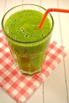 Groene smoothie met banaan/mango/appel/spinazie