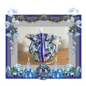 Handmade Tea Cozy, Insulated Cozy, Quilted Tea Cozy, Purple Tea Cozy, Floral Tea Cozy, Teapot Cozy, English Tea Cozy, Teapot Cover, Tea Cozy