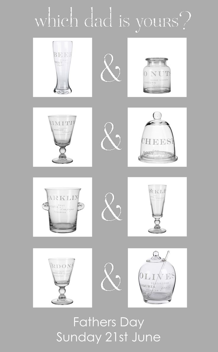 Why not treat that wonderful man in your life this Fathers Day to a stylish piece of glassware from the 'AGNES' range by Lene Bjerre Design? Available both in store and online at www.dottyhome.com... Which Dad is yours?   #dottyhome #lenebjerre #glassware #fathersday