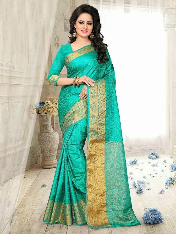 bollywood designer ethnic wedding partywear beautiful sari indian art silk saree #Handmade #Saree #WeddingPartyWear
