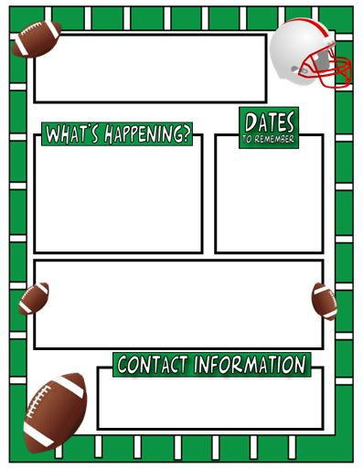The AmazingClassroom.com Blog: Free Sports Themed Classroom Newsletter  Template!  Free School Newsletter Templates For Word