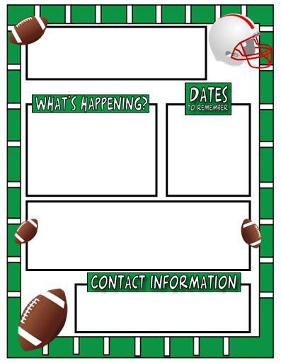 The AmazingClassroom.com Blog: Free Sports Themed Classroom Newsletter Template!