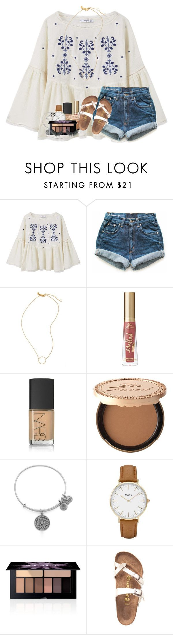 """""""what do u get guys for valentine's day?"""" by kyliegrace ❤ liked on Polyvore featuring beauty, MANGO, Levi's, Madewell, Too Faced Cosmetics, NARS Cosmetics, Alex and Ani, CLUSE, Smashbox and Birkenstock"""