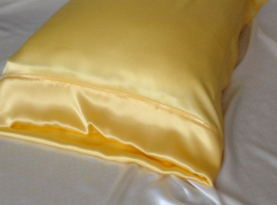 Mulberry Silk Pillowcase Daffodil Yellow Silk By