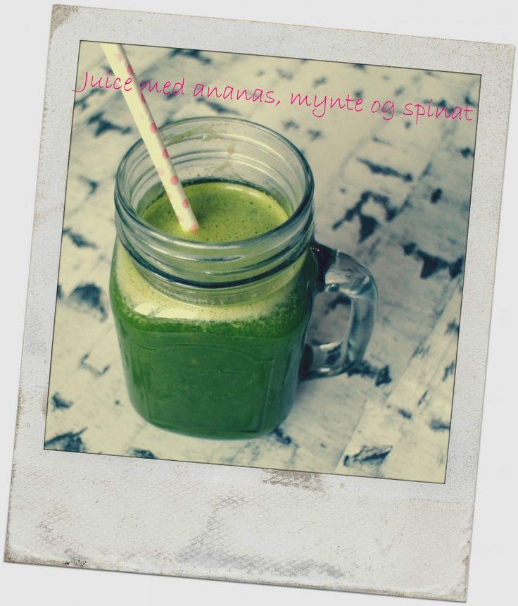 Grøn juice med ananas, mynte og spinat