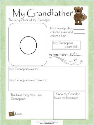 My Shae Noel - All Things Wonderful: All About Dad and All About Grandpa Free Printable