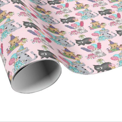 #createyourown #customize - #Birthday Party Cats Pink Custom Wrapping Paper