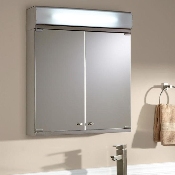 Medicine cabinet with lights image of white recessed for Medicine cabinet lighting ideas