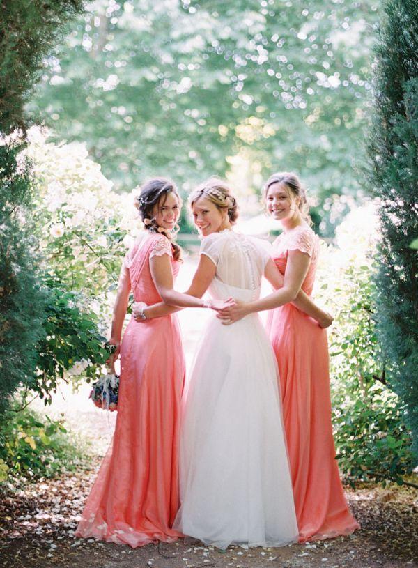 Coral Bridesmaids Dresses | photography by http://featherandstone.com.au/