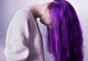 Fioletowe włosy zdjęcia inspiracje