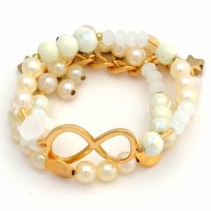 Pulsera Pastel Infinito   www.dulceencanto.com #accesorios #accessories #aretes #earrings #collares #necklaces #pulseras #bracelets #bolsos #bags #bisuteria #jewelry #medellin #colombia #moda #fashion