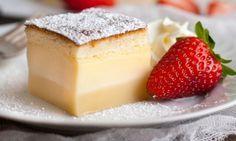Mágica receta de pastel que se divide en tres capas
