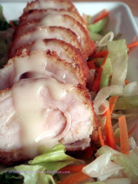 rolls di pollo al formaggio con prosciutto e zenzero                     #recipe #juliesoissons
