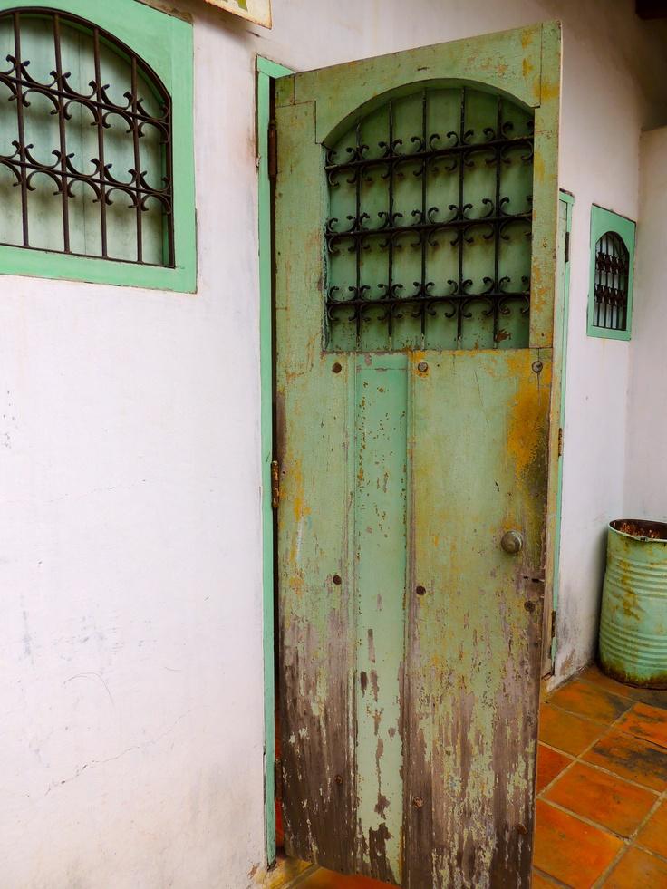 blue door, Managua, Nicaragua