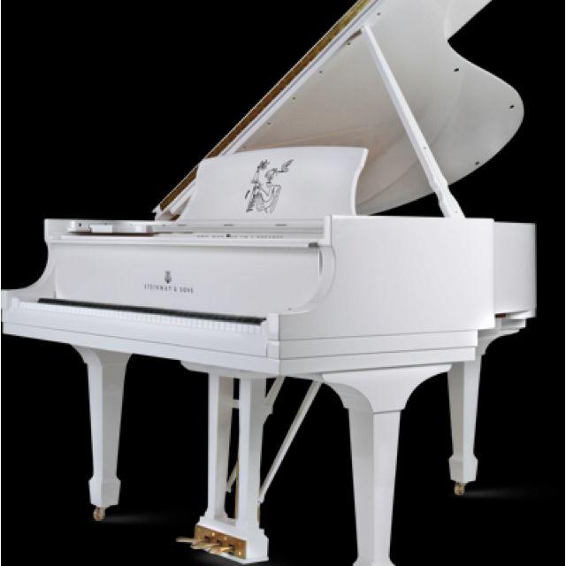 White Steinway baby grand piano :) | Music I Love | Pinterest