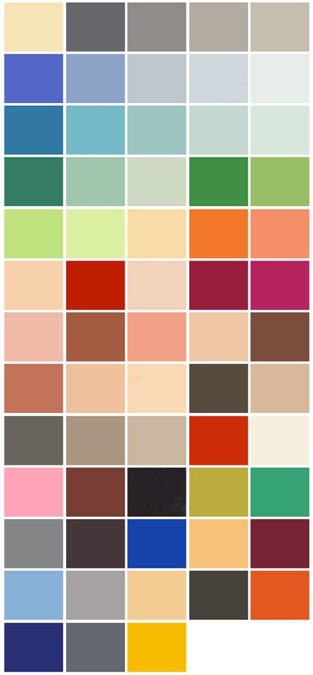 Le Corbusier colour chart