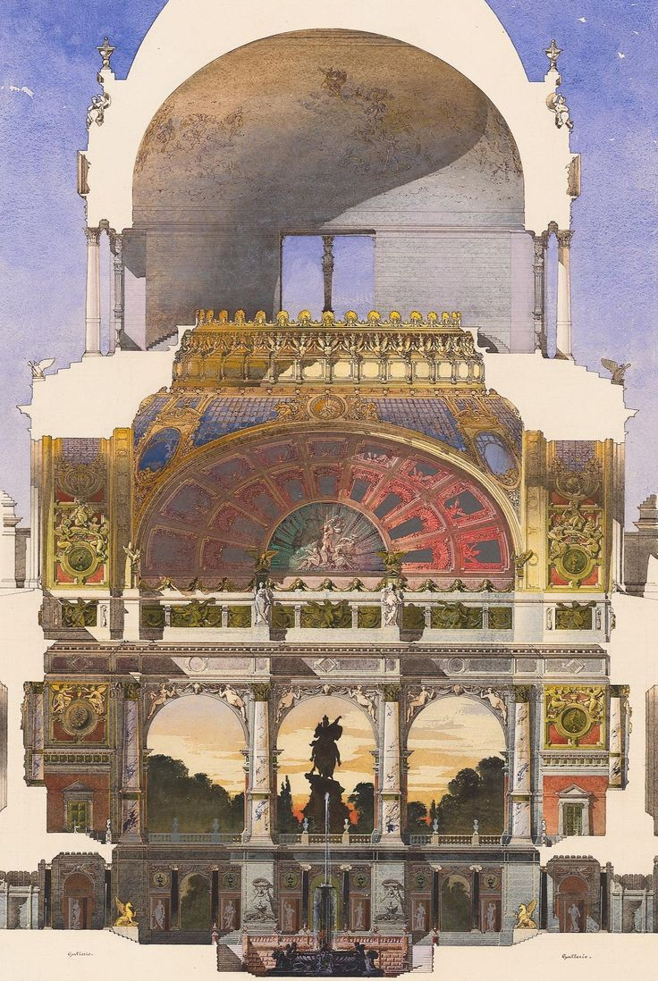 Design for an art academy in Berlin by Bernhard Sehring, 1883